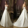 MODERN STYLE SWEETHEART A-LINE SATIN WEDDING DRESS BEST-1144