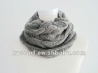 Fashion wool hand knitted circle scarf