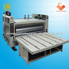 Corrugated carton flexo printing machine with slotting