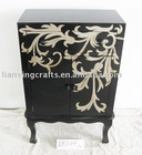 Antique Furniture Black Wooden Cabinet
