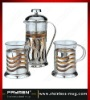 Stainless steel tea & coffee maker set