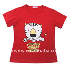 100% cotton funny cute child t-shrit OEM service