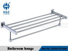 Double deck bathroom towel rack