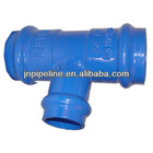 ductile iron pipe fitting for pvc pipe (all socket tee)