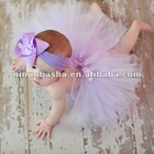 NW-258 Zilly Bean Lavender Infant Solid Tutu Dress