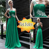 Hot Sale!!! New Arrivals One Shoulder Hot Sale Long Chiffon Bridesmaid Dresses