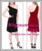 Modern One-shoulder Mini Hotsale Chiffon cocktail dress