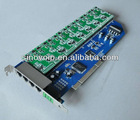 8 port FXS/FXO analog Asterisk PCI card
