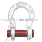hot dip galvanized drop anchor forged shackle