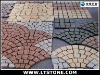 Granite paver stone paving