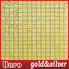 20x20 ripple surface interrior wall decorative imitated gold glass mosaic tile