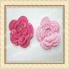 Hand made apparel crochet flower applique