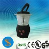 6 white led+3 red led mini camping latern with a compass