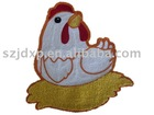 chicken embroidery label