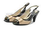 fashion women high heel sandals stacked heel peep toe buckle straps sandals shoes