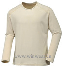 Men's 100% clean cool knitted thermal underwear shirt