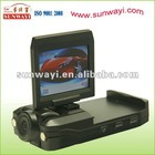 dvr recorder car with LCD rotatable screen