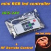 10pcs/lot, mini RGB controller with RF remote control,DC12V led controler with power supply socket for led strip light