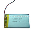 3.7V 850mAh LP503058 Rechargeable battery