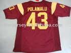 USC Trojans Jerseys #43 Polamalu Authentic RED Jersey Mixed Order Size 48-56 Free Shipping