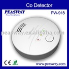 9V Battery Powered CO alarm PEASWAY PW-918 comply EN50291