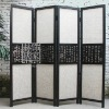 Q121-82.19Four Panles Wooden Frame Folding Screen