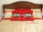 Asia style silk wedding bed set/king size and queen size