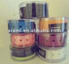 2013 Colorful Rubber Silicone Belt with round plastic box