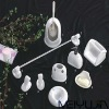Newest embossed ceramic bathroom accessories bathroom sets