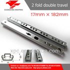 17mm Double Side Travel Mini Ball Bearing Drawer Slides
