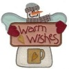 Customized warm withes embroidery patches as Christmas gifts