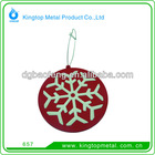 pvc snowflower ornament for Xmas