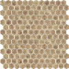 brown irregular shape mosaic porcelain tile rustic for floor