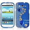 Sparkle Diamond Bling Swarovski Diamond Crystal Bling Hard Case Cover for Samsung Galaxy S3/i9300