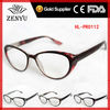 [1 dollar shop]plastic fashion reading glasses 2013 with amber cat eye frame for women to promotional wholesale
