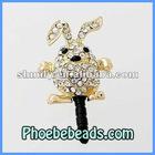 Wholesale 3.5mm Mobile Phone Dust Plug Gold Rabbit Shape Dustproof Ear Cap Earphone Jack Anti Dust For Iphone MDP-M07E