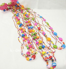 colorful wood beads necklace jewelry for kids