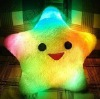 Colorful LED luminous creative hold pillow,Lovely hold pillow lucky star heart-shaped luminous hold pillow creative gifts
