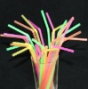 Neon Plastic Flexible Drinking Straw