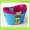 Mini Plastic Bucket/tubs 3 pack assorted colors