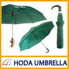 Green 2 Sectin Folding umbrella with Automatic Design