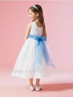 FG-076 New Arrival Lovely Straps Tank Neckline Girls Party Dress With Ribbons