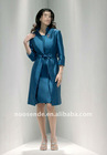 Free Shipping 2013 cheap formal long sleeve knee length blue mother of the bride dress