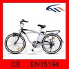 men bike with lithium battery