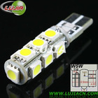 12V car led t10 13smd 5050 error free canbus bulb