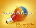Holiday Lighting A19 100W Rainbow incandescent Bulbs