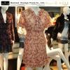 ladies print dress chiffon dress, ladies fashion dress, short sleeve chiffon dress, vintga dress,fancy print dress