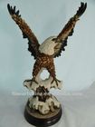 poly resin eagle on a stump