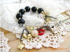 Euramerican Fashion red lip whistle pearl bracelet jewelry