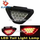 Add-On Brilliant Red 12-LED 3rd Third High Mount Brake Light Taillight Lamp (Clear) universal for cars SUVs trucks motorcycles